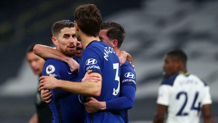Chelsea celebrate opening the scoring
