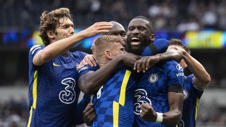 Joueurs de Chelsea lors du match contre Tottenham