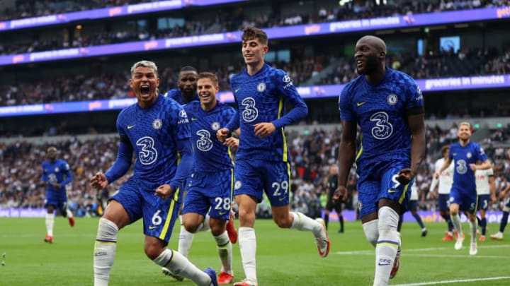 Chelsea, along with Liverpool and Manchester United stand at the top of the Premier League standings with 13 points. | Catherine Ivill/Getty Images