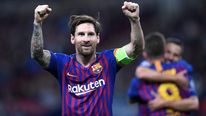 Messi celebrando gol