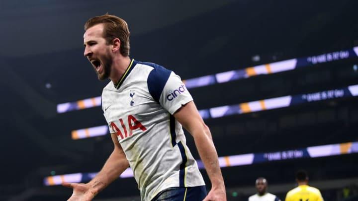 Harry Kane celebrates against Fulham