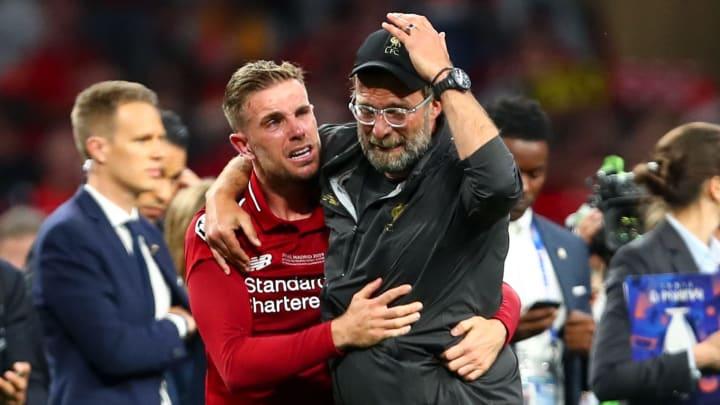 Jurgen Klopp was also in tears with Jordan Henderson after winning the Champions League.