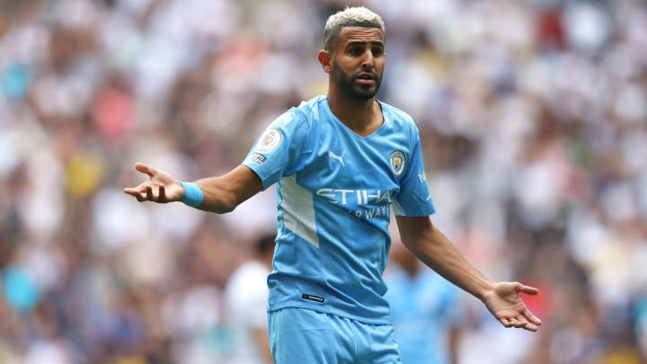 Riyad Mahrez lors du match entre Tottenham et Manchester City (1-0).