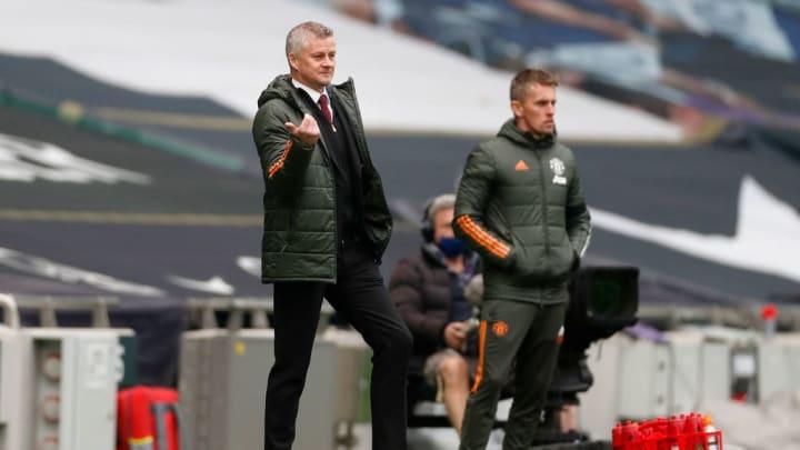 Ole Gunnar Solskjaer watched Man Utd beat Tottenham