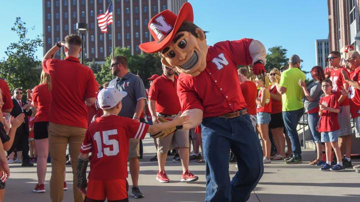 The Nebraska mascot