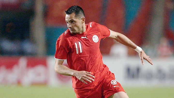 Tunisian striker Silva Dos Santos plays