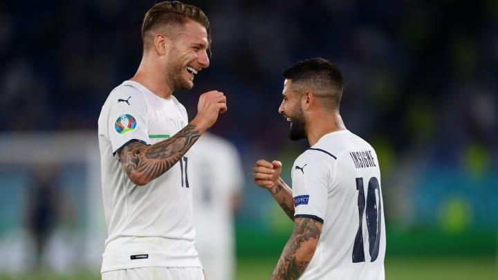 Erzielten im ersten Gruppenspiel jeweils einen Treffer: Ciro Immobile (l.) & Lorenzo Insigne