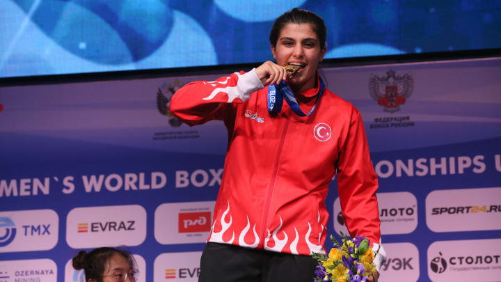 Busenaz Surmeneli is the favorite in the odds to win the women's welterweight boxing Gold Medal at the 2021 Tokyo Olympics.
