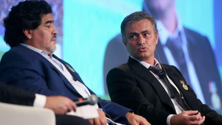 Maradona et Mourinho lors d'un évènement à Dubai