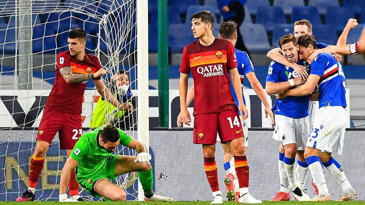La gioia Samp dopo il gol di Silva