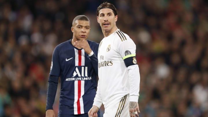 Kylian Mbappé et Sergio Ramos en Ligue des Champions en 2019.