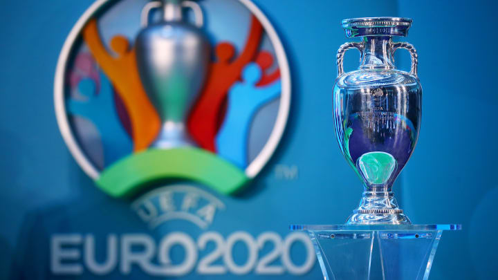 UEFA EURO 2020 trophy during the launch event