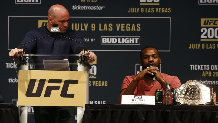 Dana White and Jon Jones are engaged in a public battle.