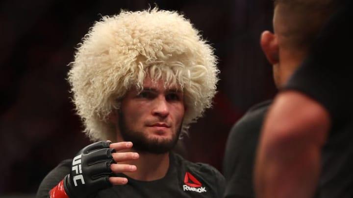 Khabib Nurmagomedov returns to the Octagon at UFC 249 in Brooklyn to face Tony Ferguson.