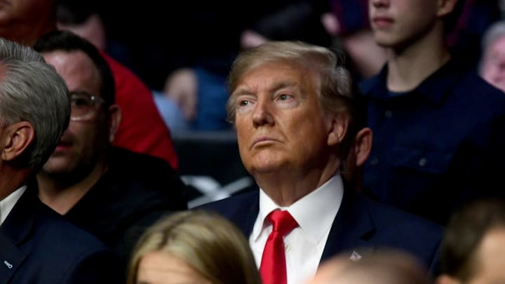 NEW YORK, NEW YORK - NOVEMBER 02:  U.S. President Donald Trump attends UFC 244 at Madison Square Garden on November 02, 2019 in New York City. (Photo by Steven Ryan/Getty Images)