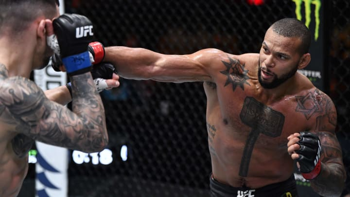 Thiago Santos vs Johnny Walker UFC Vegas 38 light heavyweight bout odds, prediction, fight info, stats, stream and betting insights.