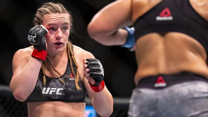Aspen Ladd vs Mac Chiasson UFC Vegas 38 women's bantamweight bout odds, prediction, fight info, stats, stream and betting insights.
