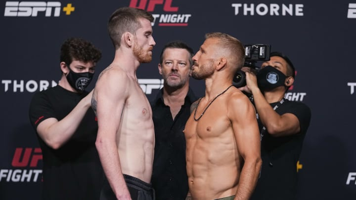 Who won the fight last night? Results for the fight between Cory Sandhagen and T.J. Dillashaw, including result, time, date, how to watch & fight card