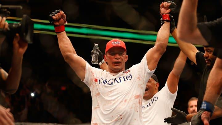 Junior Dos Santos celebrates during UFC Fight Night.
