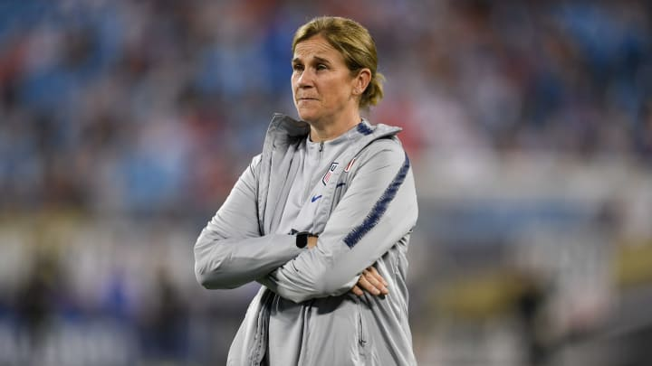 Head couch Jill Ellis ahead of USA v Korea Republic during the USWNT Victory Tour  Friendly