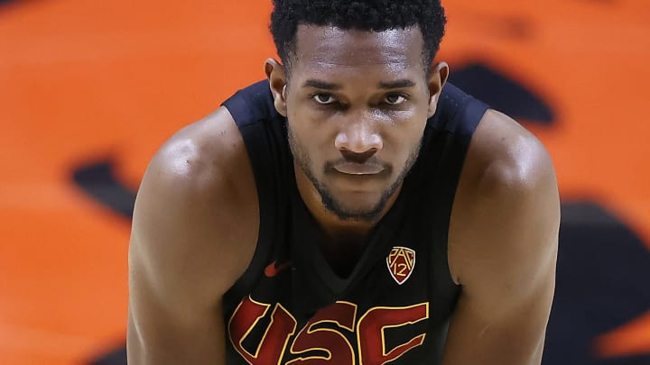 USC basketball star Evan Mobley.