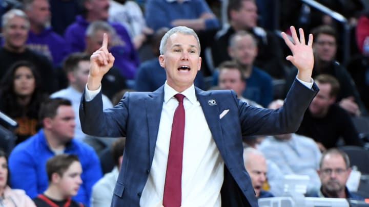 LAS VEGAS, NEVADA - MARCH 14:  Head coach Andy Enfield of the USC Trojans reacts during a quarterfinal game of the Pac-12 basketball tournament against the Washington Huskies at T-Mobile Arena on March 14, 2019 in Las Vegas, Nevada. The Huskies defeated the Trojans 78-75.  (Photo by Ethan Miller/Getty Images)