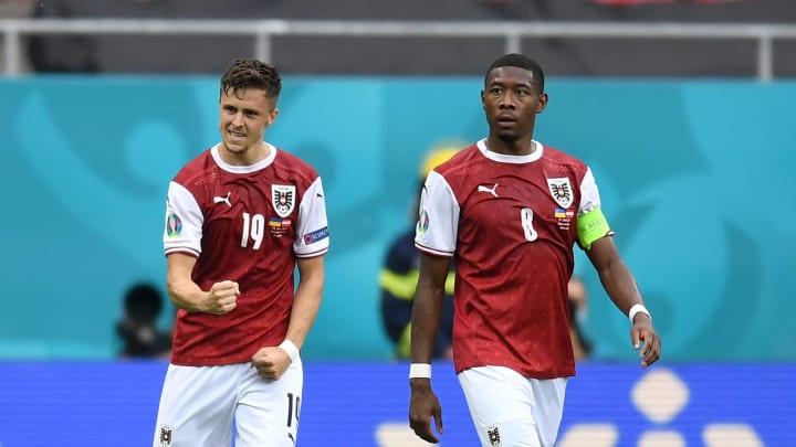 Stammspieler in der österreichischen Nationalmannschaft: Christoph Baumgartner (l.) & David Alaba