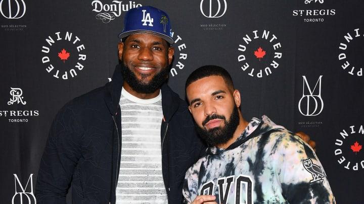 LeBron James and Drake a long time ago.