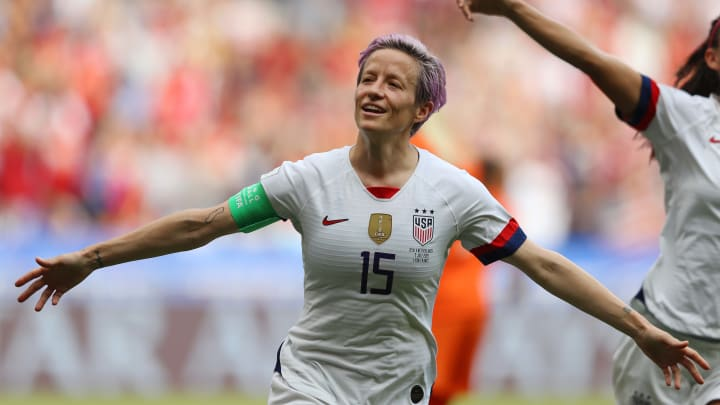 Rapinoe says she is thinking about equal pay when playing for her country