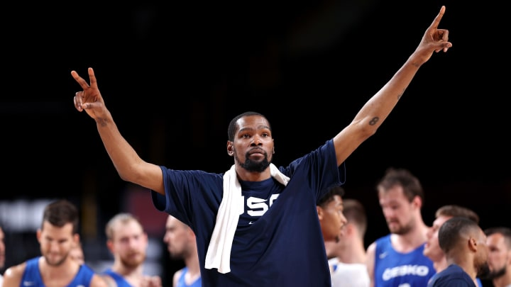 Kevin Durant leads Team USA against Spain.