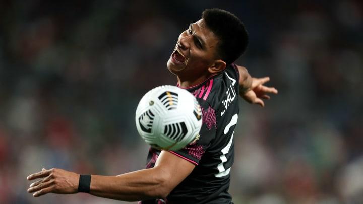 Jesus Gallardo con la selección mexicana