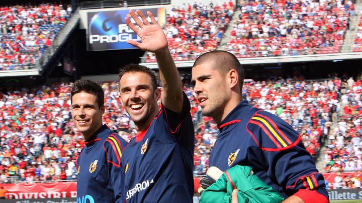 Sehen wir Carlos Marchena (Bildmitte) in der nächsten Saison bei den Bayern?