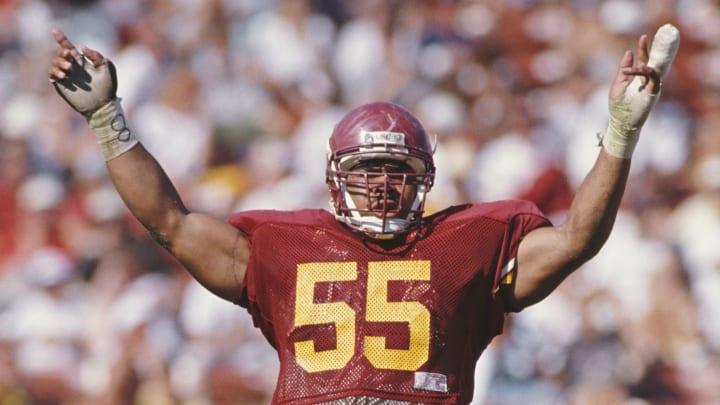 USC football linebacker Junior Seau.