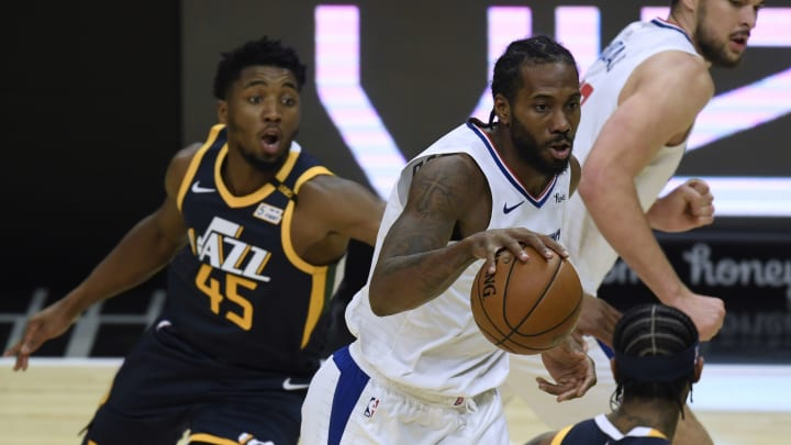 Kawhi Leonard and Donovan Mitchell face off in Game 1 tonight.