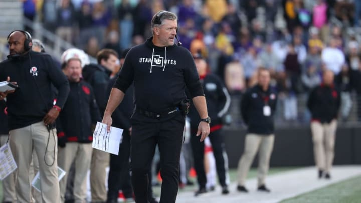 SEATTLE, WASHINGTON - NOVEMBER 02: Head Coach Kyle Whittingham of the Utah Utes reacts in the fourth quarter against the Washington Huskies during their game at Husky Stadium on November 02, 2019 in Seattle, Washington. (Photo by Abbie Parr/Getty Images)