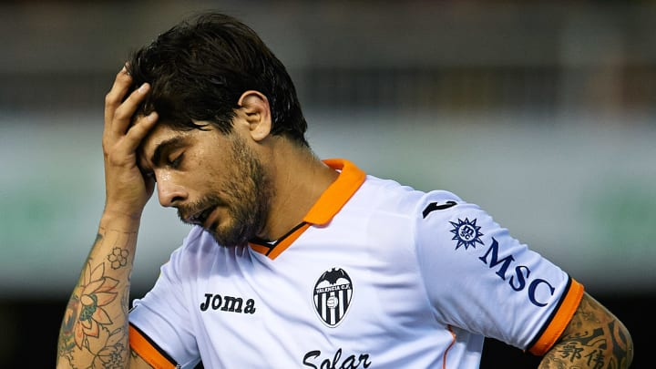 Banega's time with Valencia was littered with off-field issues