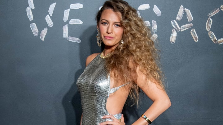 NEW YORK, NEW YORK - DECEMBER 02: Blake Lively attends the the Versace fall 2019 fashion show at the American Stock Exchange Building in lower Manhattan on December 02, 2018 in New York City. (Photo by Roy Rochlin/Getty Images)