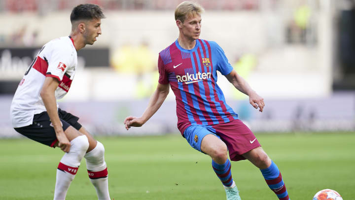 Der VfB Stuttgart testete gegen den FC Barcelona.