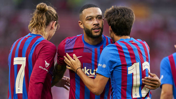 Griezmann e Depay têm animado os torcedores do Barça   VfB Stuttgart v FC Barcelona - Pre-Season Friendly