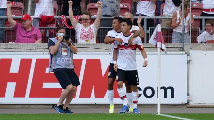 Wataru Endo traf zum 1:0 für Stuttgart.