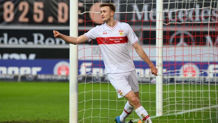 VfB Stuttgart: Stürmer Sasa Kalajdzic ist weiter in Topform