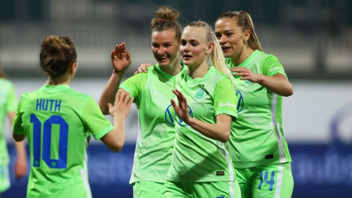 Alexandra Popp, Svenja Huth, Karina Saevik, Fridolina Rolfo, Wolfsburg