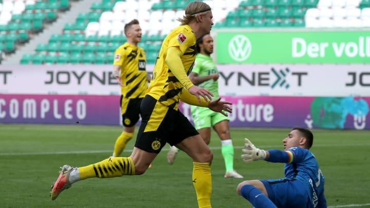 Erling Haaland trifft zum 1:0.