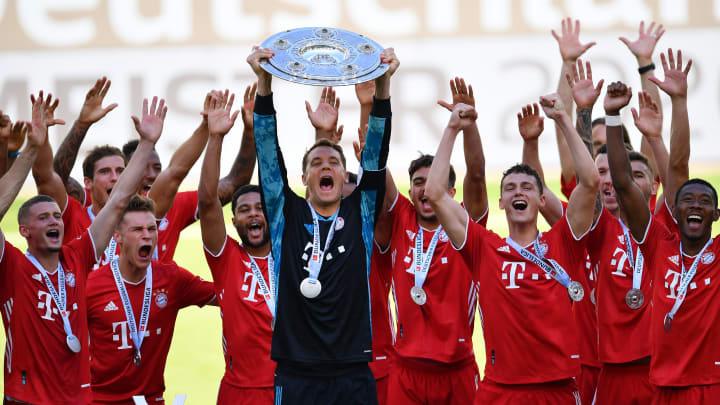 Bekanntes Bild: Bayern wieder Deutscher Meister