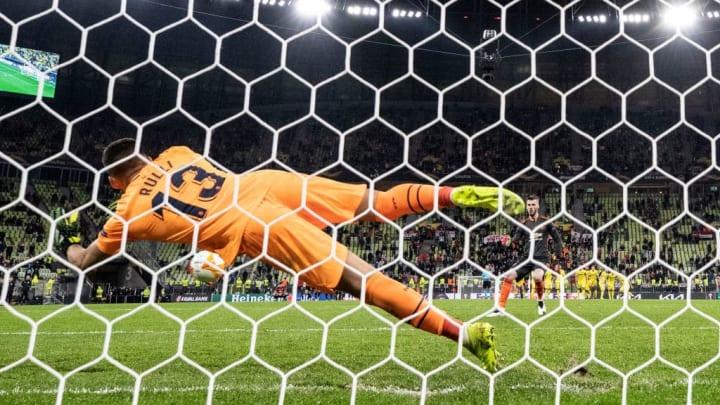 David de Gea, Gero Rulli Manchester United Villarreal Europa League
