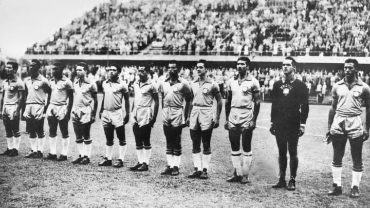 WORLD CUP-SOCCER-1958-BRAZIL-TEAM