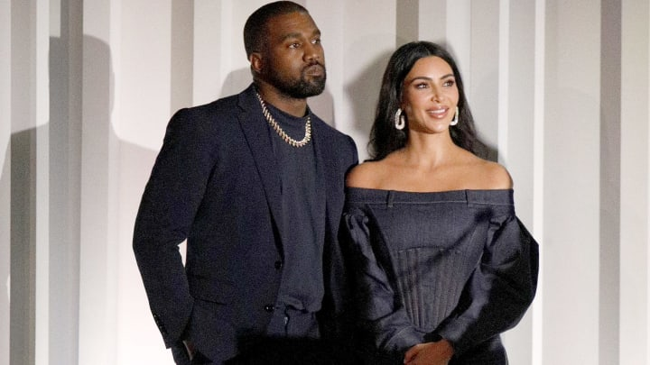 NEW YORK, NEW YORK - NOVEMBER 06: Kanye West and Kim Kardashian West are seen onstage during the WSJ. Magazine 2019 Innovator Awards sponsored by Harry Winston and Rémy Martin at MOMA on November 06, 2019 in New York City. (Photo by Lars Niki/Getty Images for WSJ. Magazine Innovators Awards )