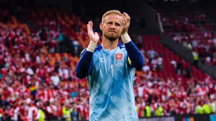 Kasper Schmeichel Dinamarca República Tcheca Eurocopa