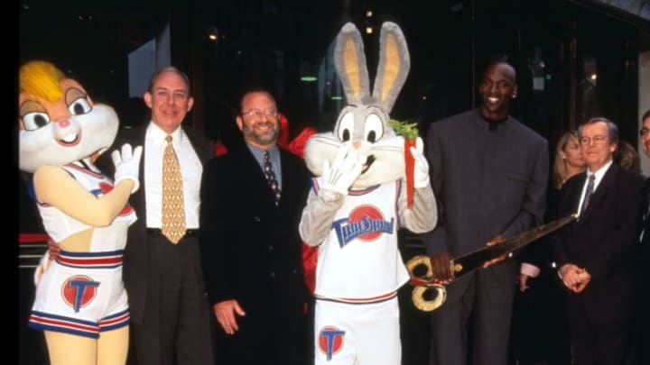 Michael Jordan and Bugs Bunny appear together in public.