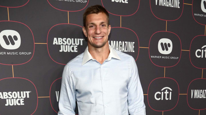 Rob Gronkowski, Warner Music Group Pre-Grammy Party - Red Carpet